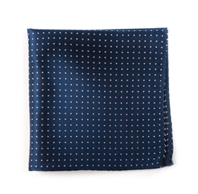 Classic Navy Mini Dots pocket square