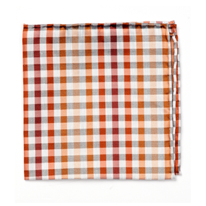 gibson check orange pocket square