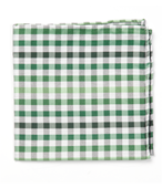 POCKET SQUARES - GIBSON CHECK - GREEN