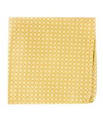 POCKET SQUARES - MEDALLION FORM - MUSTARD