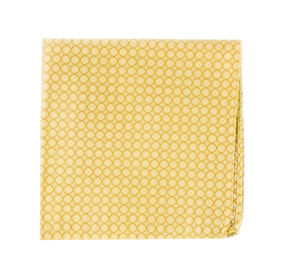 Mustard Medallion Form pocket square