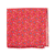 Select Apple Red Fentone Floral Pocket Square Selected