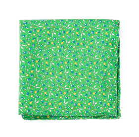 Kelly Green Fentone Floral pocket square