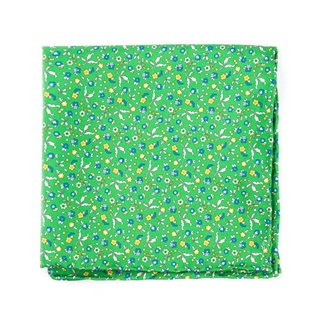 fentone floral kelly green pocket square