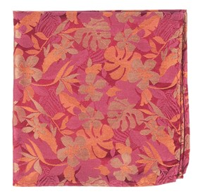 Dusty Rose Island Floral pocket square