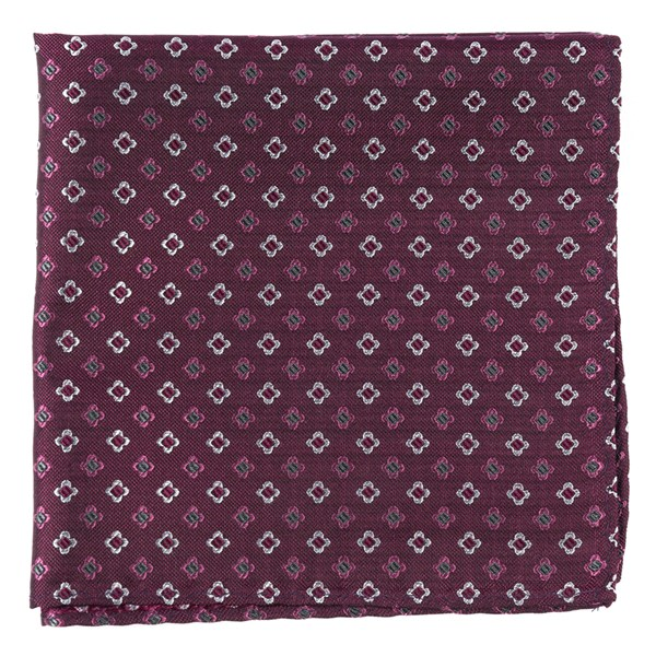 Deep Azalea Steady Bloom Pocket Square