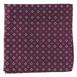 Steady Bloom Deep Azalea Pocket Square