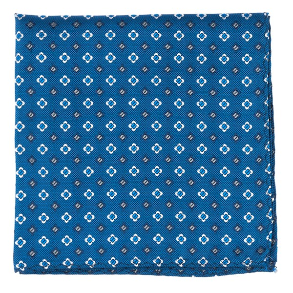 Serene Blue Steady Bloom Pocket Square