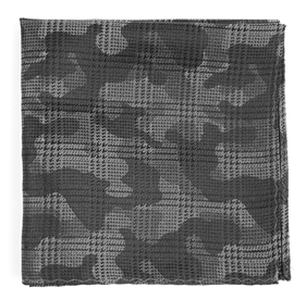 Silver Caliber Camo pocket square