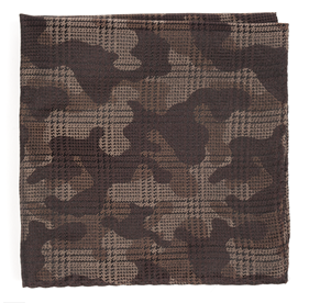 Brown Caliber Camo pocket square