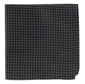 Black Mini Dots pocket square