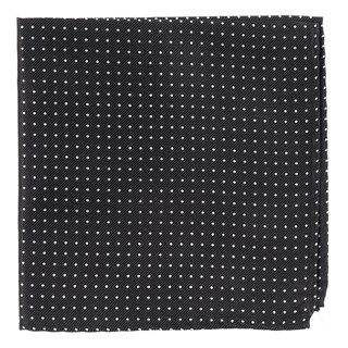mini dots black pocket square