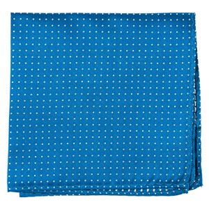 mini dots classic blue pocket square