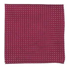 Burgundy Mini Dots pocket square