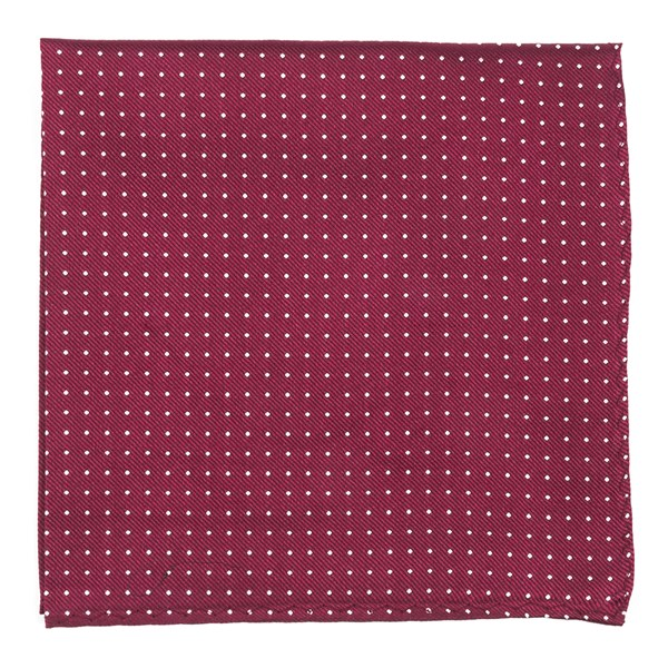 Mini Dots Burgundy Pocket Square