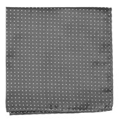 Pocket Squares - Mini Dots - Charcoal Grey