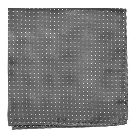 Charcoal Grey Mini Dots pocket square