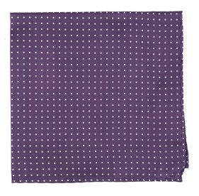 Eggplant Mini Dots pocket square