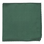 Pocket Squares - Mini Dots - Hunter Green
