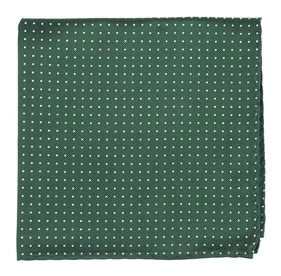 Hunter Green Mini Dots pocket square