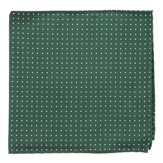mini dots hunter green pocket square