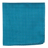 Pocket Squares - Mini Dots - Teal