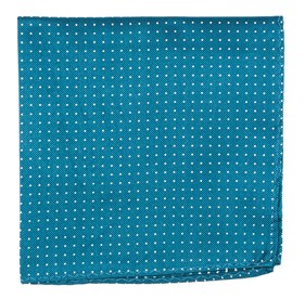 Teal Mini Dots pocket square
