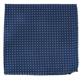 Navy Mini Dots pocket square
