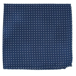 mini dots navy pocket square
