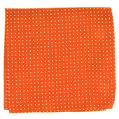 Pocket Squares - Mini Dots - Orange
