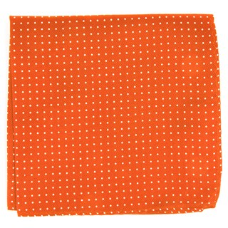 mini dots orange pocket square