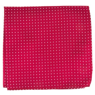 Mini Dots Red Pocket Square