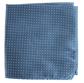 Whale Blue Mini Dots pocket square