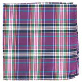Pocket Squares - Paramount Plaid - Magenta