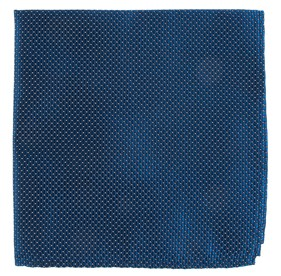 Navy Pinpoint pocket square