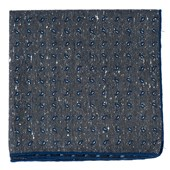Pocket Squares - Paisley Timber - Deep Slate Blue