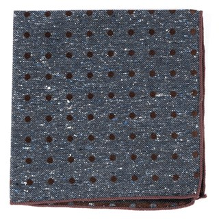 Revolve Dots Deep Serene Blue Pocket Square
