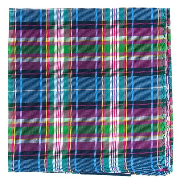 Fuchsia West Village Plaid Pocket Square