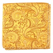 POCKET SQUARES - CUSTOM PAISLEY - GOLD
