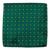 Pocket Squares - Midtown Medallions - Hunter Green