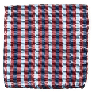 polo plaid red pocket square