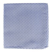 Pocket Squares - Bahama Checks - Classic Blue