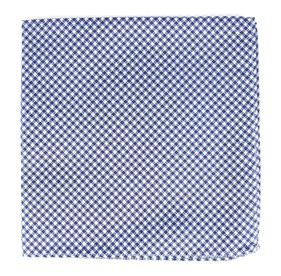 Bahama Checks Classic Blue pocket square