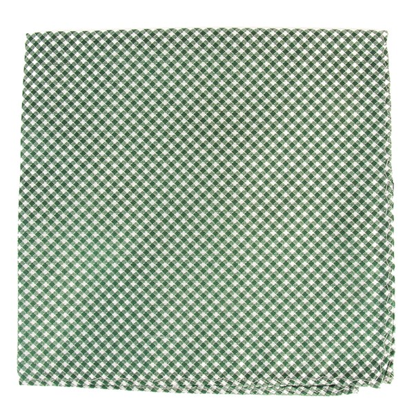 Hunter Green Bahama Checks Pocket Square