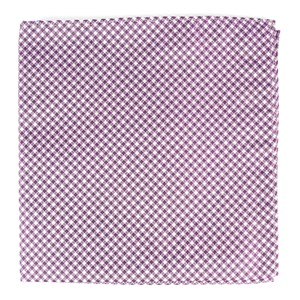 bahama checks plum pocket square