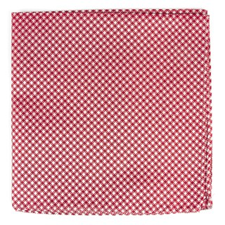 bahama checks red pocket square