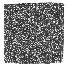 Black Peninsula Floral pocket square