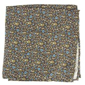 Pocket Squares - Peninsula Floral - Brown