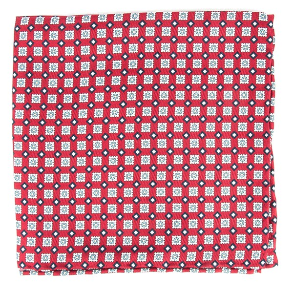 Red South Padre Geos Pocket Square