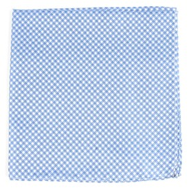 Be Married Checks LIGHT BLUE pocket square